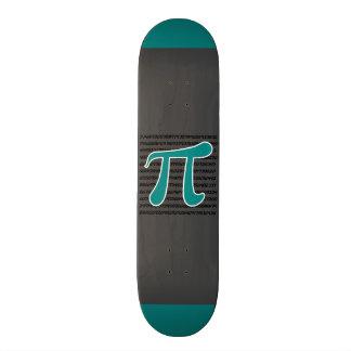 Símbolo verde do Pi da cerceta Skate