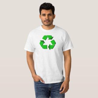 Símbolo verde do reciclar camiseta