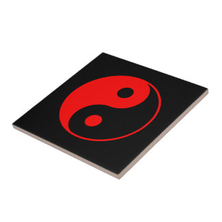Símbolo vermelho de Yin Yang