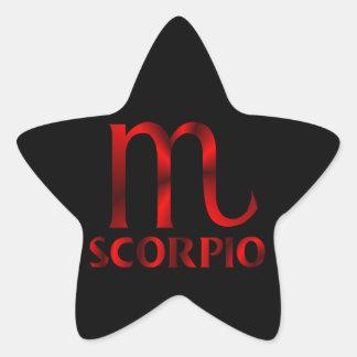 Símbolo vermelho do horóscopo da Escorpião Adesito Estrela