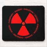 Símbolo vermelho Mousepad da radiação