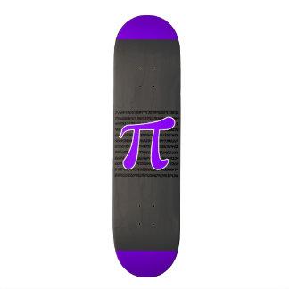 Símbolo violeta do Pi do roxo Skate