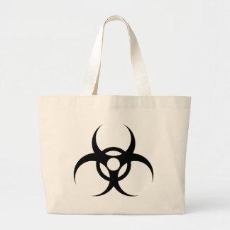 símbolo waste do biohazard sacola tote jumbo