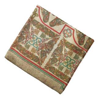 Símbolos celtas no papel velho bandana
