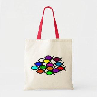 Símbolos cristãos dos peixes - escola do arco-íris bolsas