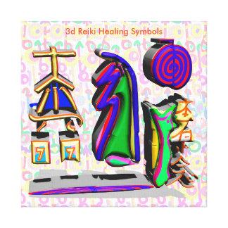símbolos curas de 3d Reiki Impressão Em Tela