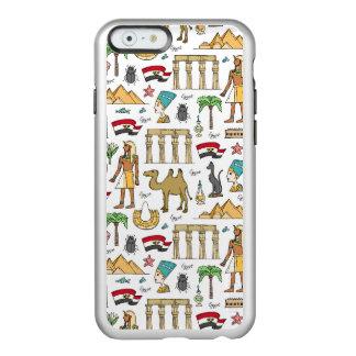 Símbolos da cor do teste padrão de Egipto Capa Incipio Feather® Shine Para iPhone 6