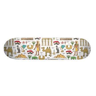 Símbolos da cor do teste padrão de Egipto Shape De Skate 19,7cm