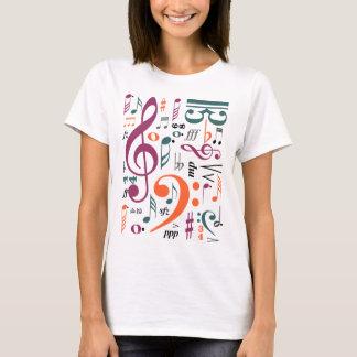 Símbolos da música camiseta
