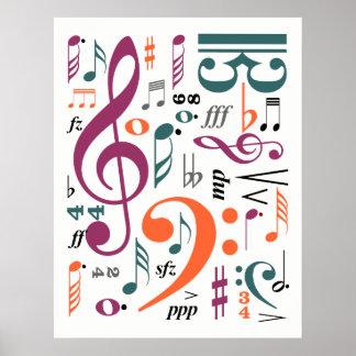 Símbolos da música pôster