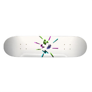 Símbolos da notação de música gráficos shape de skate 18,7cm