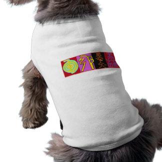 Símbolos da roupa do animal de estimação de Reiki Camisa Sem Mangas Para Cachorro