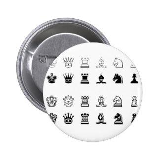 Símbolos da xadrez botons