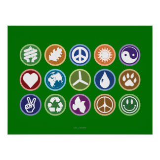 Símbolos de Eco Posters