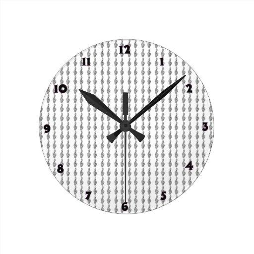 Símbolos de Gclef da música Relógio De Parede