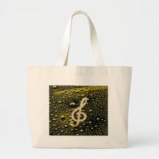 Símbolos de Glef da música com fundo da gota da ch Bolsa Para Compra