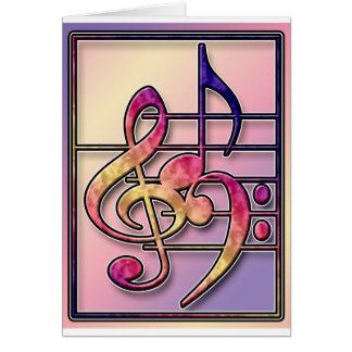 Símbolos de música 2 cartao