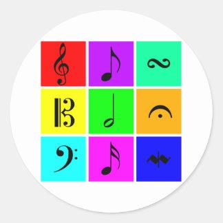 símbolos de música brilhantes adesivo