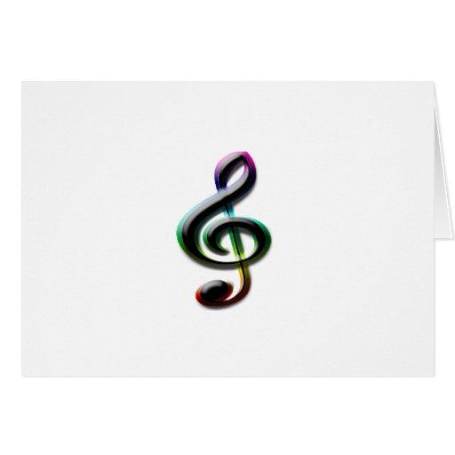 Símbolos de música cartão