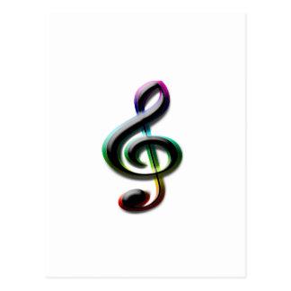 Símbolos de música cartoes postais