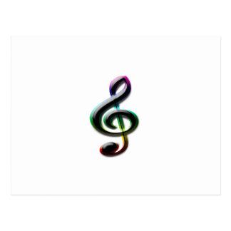 Símbolos de música cartão postal