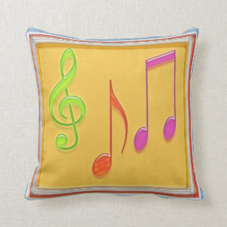 Símbolos de música da dança - gráfico do travesseiro de decoração