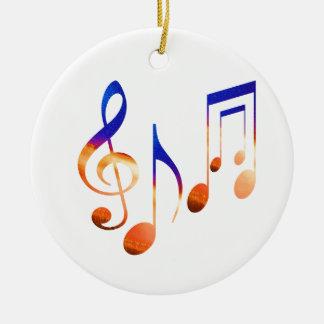 Símbolos de música da dança ornamento de cerâmica redondo