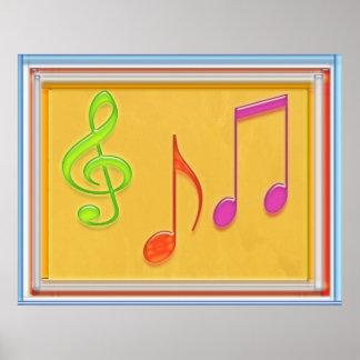 Símbolos de música da dança poster