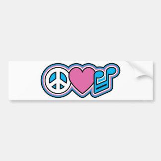 Símbolos de MÚSICA de PEACE-LOVE Adesivo Para Carro