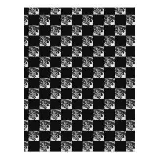 Símbolos de música do piano com fundo preto modelos de papel de carta