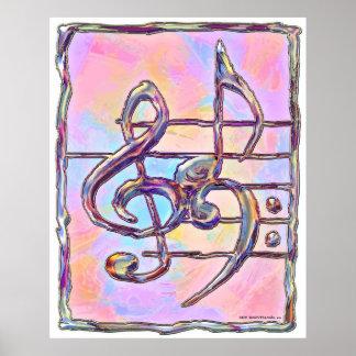 Símbolos de música, impressão 3