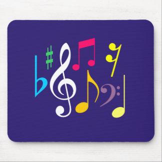 Símbolos de música Mousepad