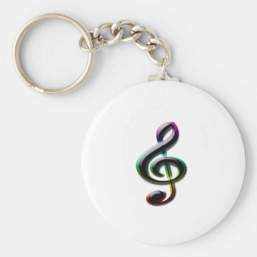 Símbolos de música chaveiro