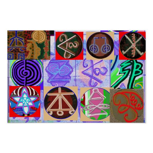 Símbolos de Reiki n Karuna Reiki Pôsteres