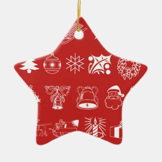 Símbolos do feriado do Natal mim ornamento