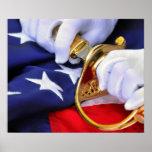 Símbolos do poster do Corpo do Marines dos Estados
