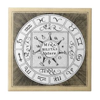 Símbolos do zodíaco do sinal da astrologia