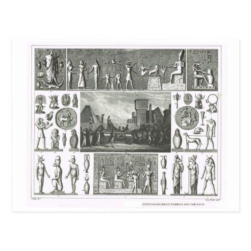Símbolos religiosos egípcios cartoes postais