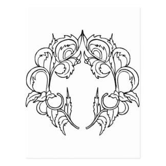 simetria, moldura para retrato, salgueiro cartão postal
