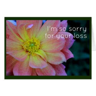 Simpatia cor-de-rosa da peônia cartão