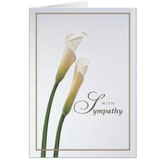 Simpatia do lírio de Calla Cartão