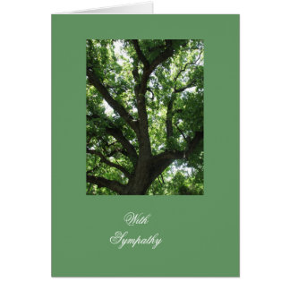 Simpatia inspirada da árvore cartão comemorativo