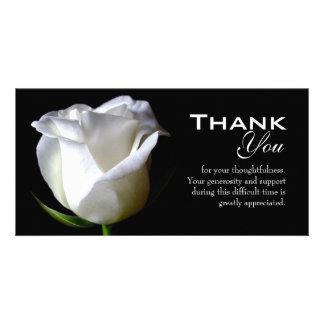 Simpatia/obrigado fúnebre você cartão com fotos