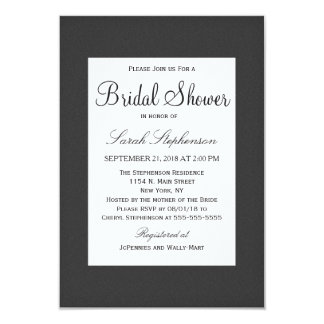 Simpl preto e branco elegante simples de convite 8.89 x 12.7cm