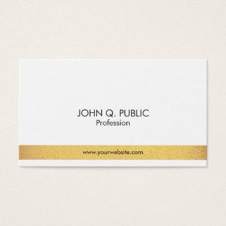 Simples branco do ouro elegante profissional cartão de visitas