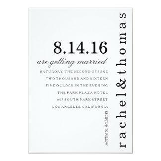 Simples e chique convite 12.7 x 17.78cm