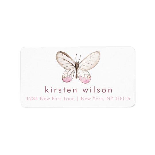 Simples & elegante coram as etiquetas de endereço