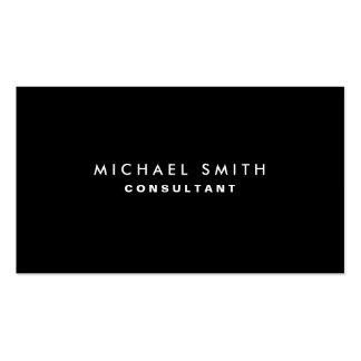 Simples liso moderno elegante profissional preto cartões de visita