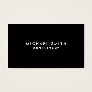 Simples liso moderno elegante profissional preto cartão de visitas
