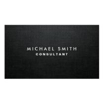 Simples liso preto moderno elegante profissional modelos cartoes de visita